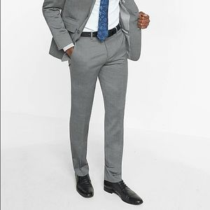 Express - slim wool blend Oxford suit pant